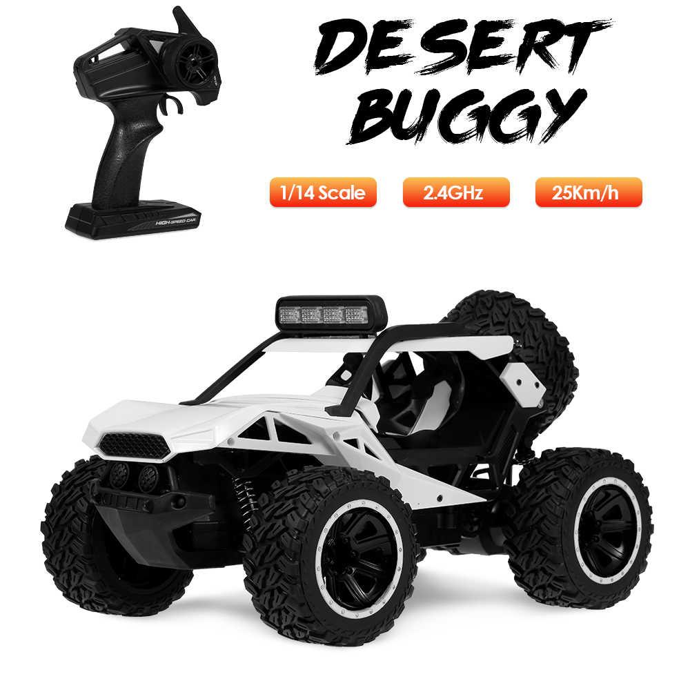 KY-2010A 1/14 RC coche con luz 2,4 Ghz desierto Buggy 25 Km/h alto Speede Off Road RC coche eléctrico de juguete regalos de coche para adultos niños
