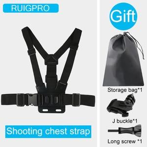 Image 2 - Ruigpro قابل للتعديل تسخير الصدر حزام جبل ل DJI osmo عمل كاميرا Gopro بطل 8 7 6 5 4 شاومي يي 4K h9 الذهاب برو 7 ملحق