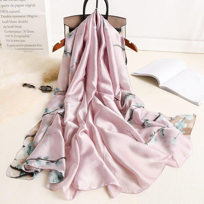 Chinese Fashion Silk Autumn And Winter Lady Multicolor Popular New Style Scarf Women Sunscreen Luxury Shawl Print Headscarf