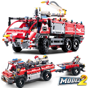 Technic Airport Rescue Vehicle 3371 City Building Blocks Sets Kits DIY Bricks Classic Model Kids Toys