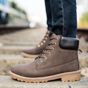 Faux Suede Leather Men Jason Martins Boots Spring Autumn Winter Man Shoes Ankle Boot Men Snow Shoe Work Plus Size 38-56