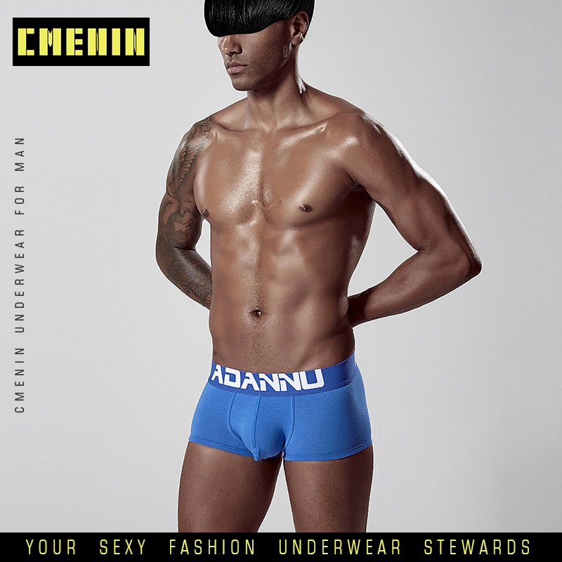 CMENIN Men Underwear Boxer Men's Boxers Male Panties Boxers Breathable Underpants Solid Shorts Cueca Comfortable Homme AD125
