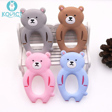 Kovict 5/10pcs bear Silicone Baby Teether rodent Baby Teething Toys Chewable Animal Shape Baby Products Nursing Gift