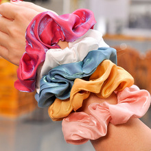 1 PC Fashion Hair Band French Retro Accessories Silk Fabrics Headdress Flower Chic Tie Rope Women Gift