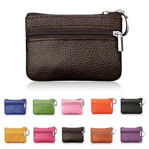 Mini Pouch Pocket Wallets Women Small PU Leather Coin Purse Zipper Change Money Bags Key Holder Case ID Card Holde Zipper Purses