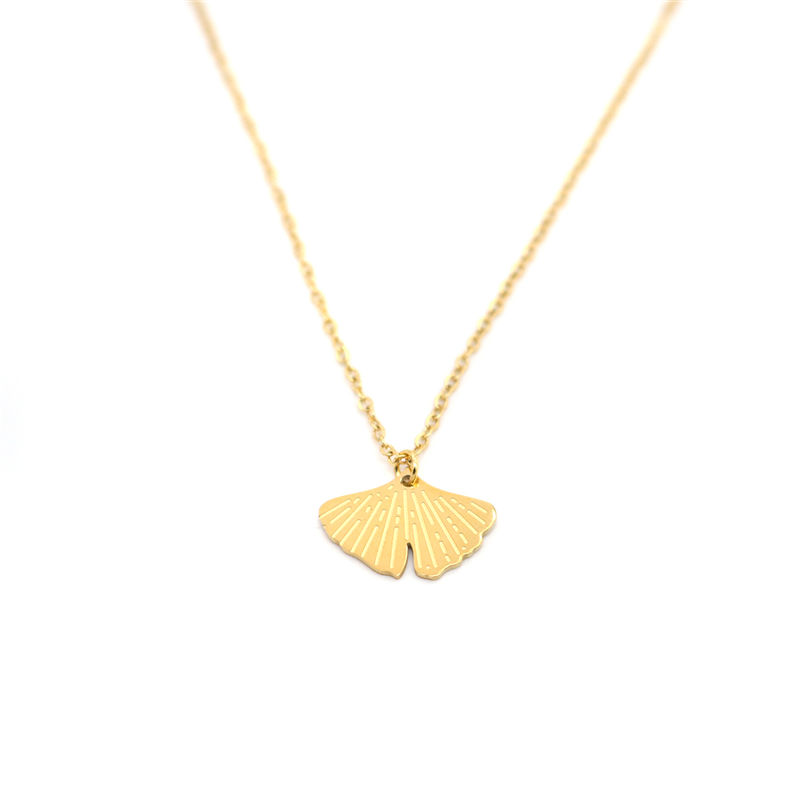 Fashion Stainless Steel Necklace Gold <font><b>Fan</b></font> Circle Ring Dainty Beehive Rhombus For Women <font><b>Jewelry</b></font> Gifts 45.5cm - 40.5cm Long,1 PC image