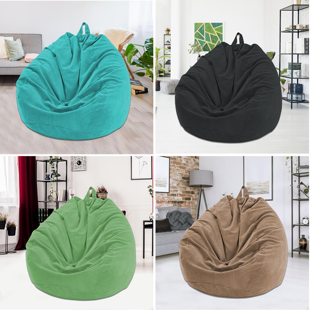 Lazy BeanBag Sofas Cover Chairs without Filler Soft Removable Corduroy Lounger Seat Bean Bag Pouf Puff Couch Tatami Living Room 6
