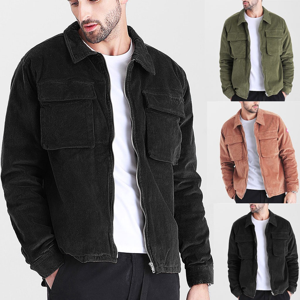 Purchasing 2019 Hot Sale Mens Autumn Fashion Coat Casual Long Sleeve Solid Tops Corduroy Casual Blouse Fashion