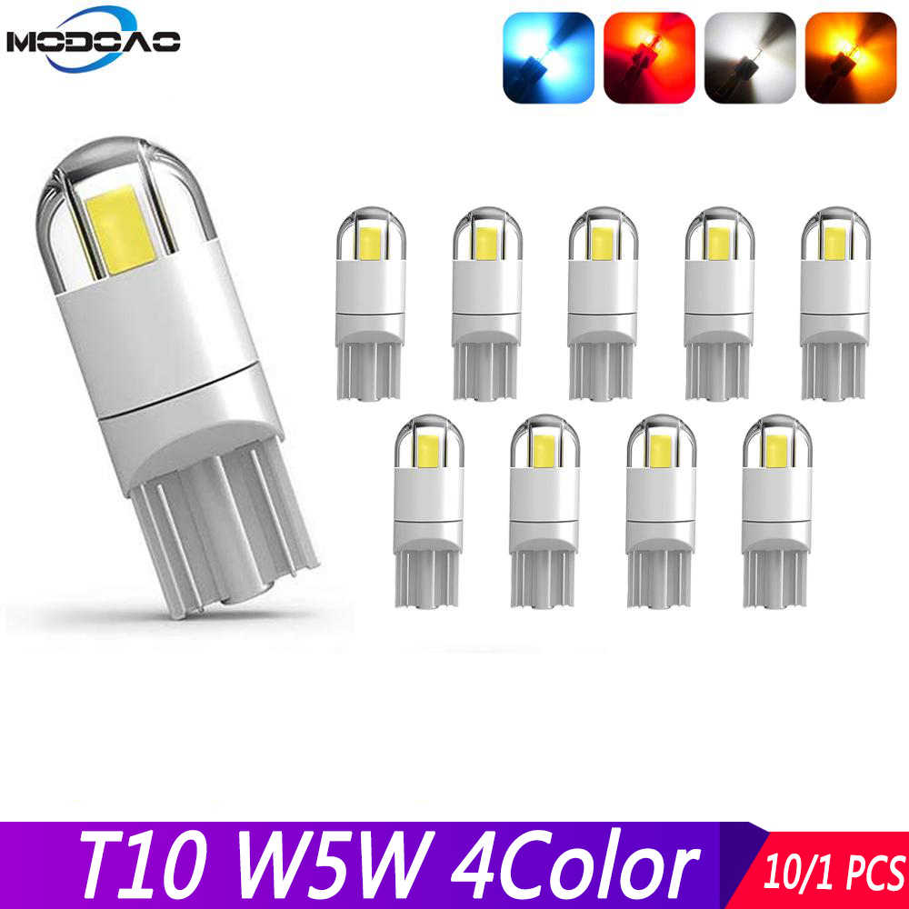 T10 W5W 3030 2SMD LED cuña luz de señal puerta de lectura en el maletero luces traseras luces de matrícula luces interiores exteriores