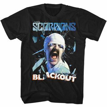 Camiseta para adultos con licencia de Scorpions Blackout