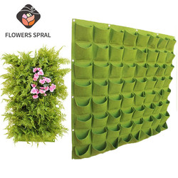 Wall Mount Hanging Bags Planting Home Supplies Multi Pockets DIY Grow Planter Bag Vertical Grow Vegetable Garden Room Bag