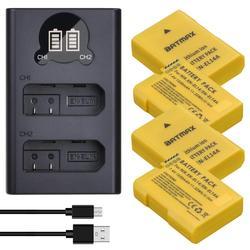 Batmax EN-EL14 EN-EL14A bateria el14 + carregador duplo usb led, para nikon d3100 d3200 d3300 d3400 d3500 d5600 d5100 d5200 p7000