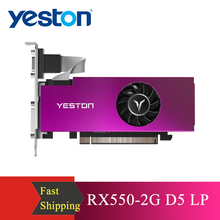 Graphic-Card Gaming Yeston RX550-2G Grafica D5 LP GDDR5 New Tarjeta 1183/6000mhz