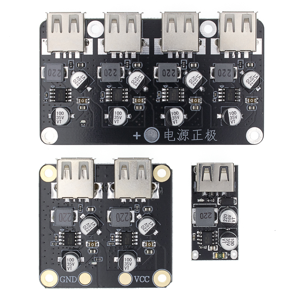 USB QC3.0 QC2.0 DC-DC Buck Converter Charging Step Down Module 6-32V 9V 12V 24V To Fast Quick Charger Circuit Board 3V 5V 12V