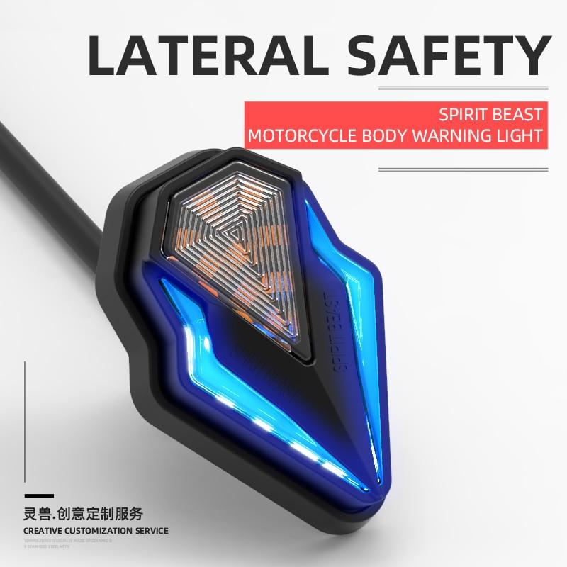 Spirit Beast Motorcycle Daytime Running Turn Signal LED Lights For Kawasaki Harley Honda Benelli Vespa KTM Suzuki BMW Yamaha