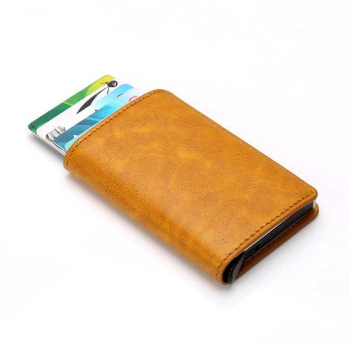 VIP GH Single Card Holder Men Wallets Money Bag Male Vintage Black Short Purse 2019 Small Leather Slim Wallets Mini Wallets Thin(China)