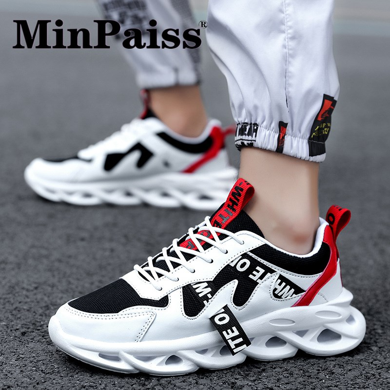 Men's Shoes Students Fly Weave Men's Running Shoes Sports Breathable Leisure Travel Off White Shoes, Hip Hop Sneakers