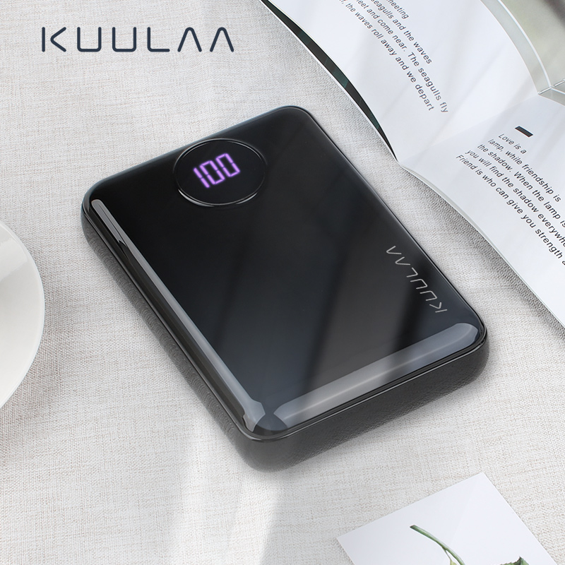 KUULAA Power Bank 10000mAh Portable Fast Charging PowerBank 10000 Dual USB Mini External Battery Charger For Xiaomi Mi PoverBank usb battery bank charger