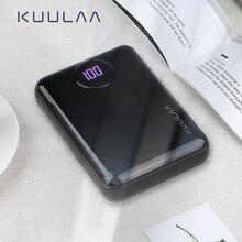 KUULAA Batería Externa 10000mAh Banco de Energía Portátil Carga Rápida Dual USB Mini Cargador de Ultra Capacidad Cargador Portátil Móvil