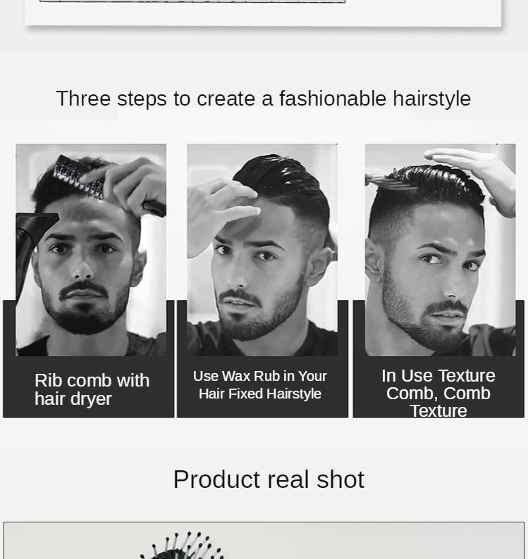 anti-estática nove-linha liso cabelo massagem couro cabeludo barbeiro pente