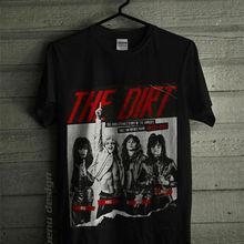 Новые с надписью Mötley Crüe грязь фильм футболка размер летние Футболки футболка топы, футболки