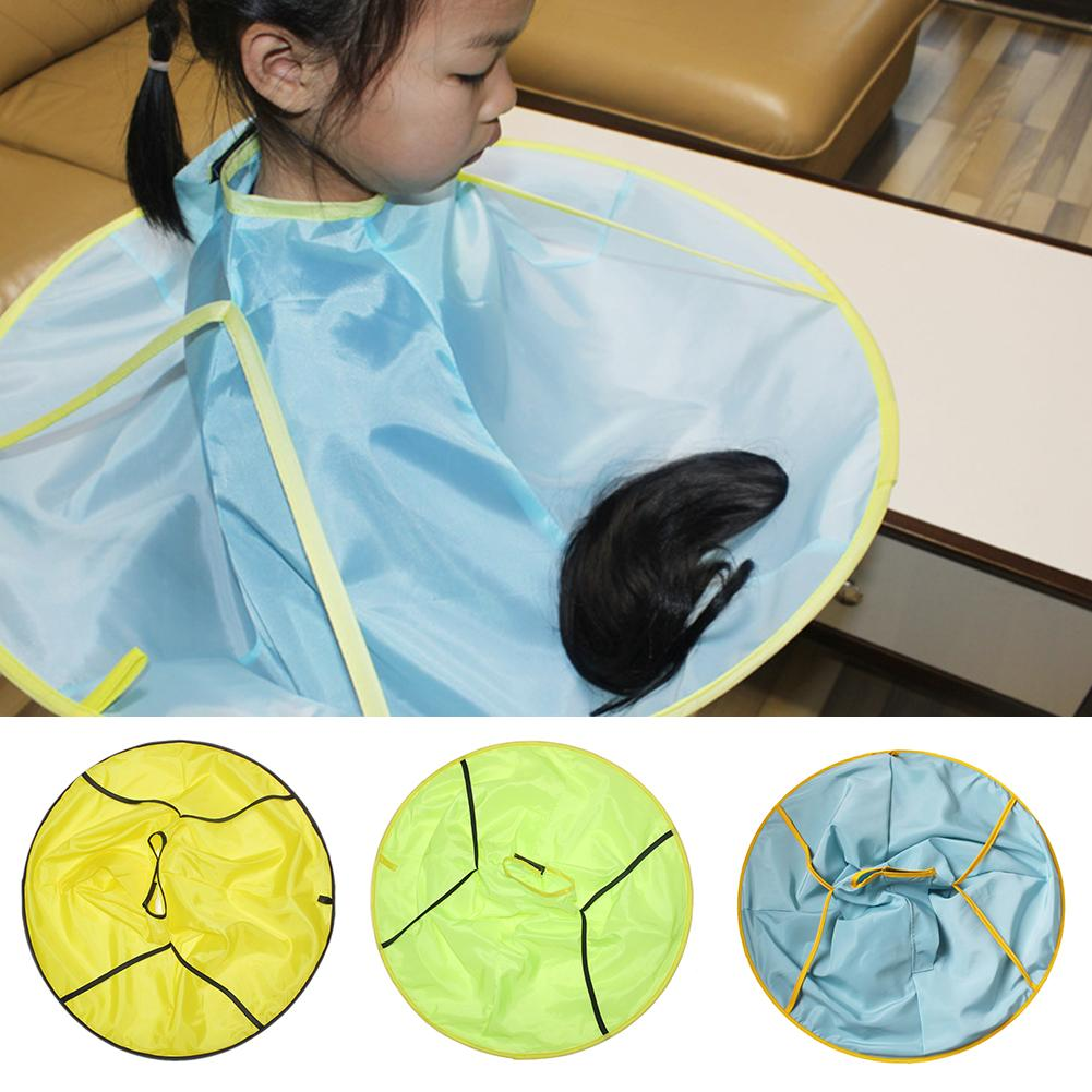 1Pcs Practical Children Kids Waterproof Haircut Catcher Apron Cape Umbrella Hairdresser Tool Baby Hair Care
