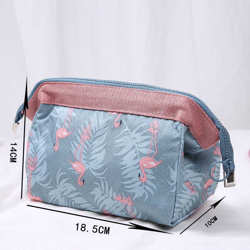 Vogvigo Flamingo Feather Cosmetic Coin Bag Girl Beauty Brush Pouch Toiletry Kit Cat Purse Makeup Pouch Travel Organizer Bag