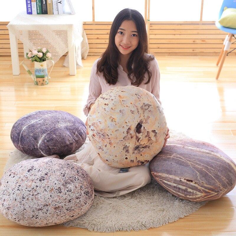 Almohada de piedra de guijarros suave para sofá, piedra de imitación para accesorios de películas, decoración creativa para el hogar, cojín trasero, regalos de cumpleaños para niños
