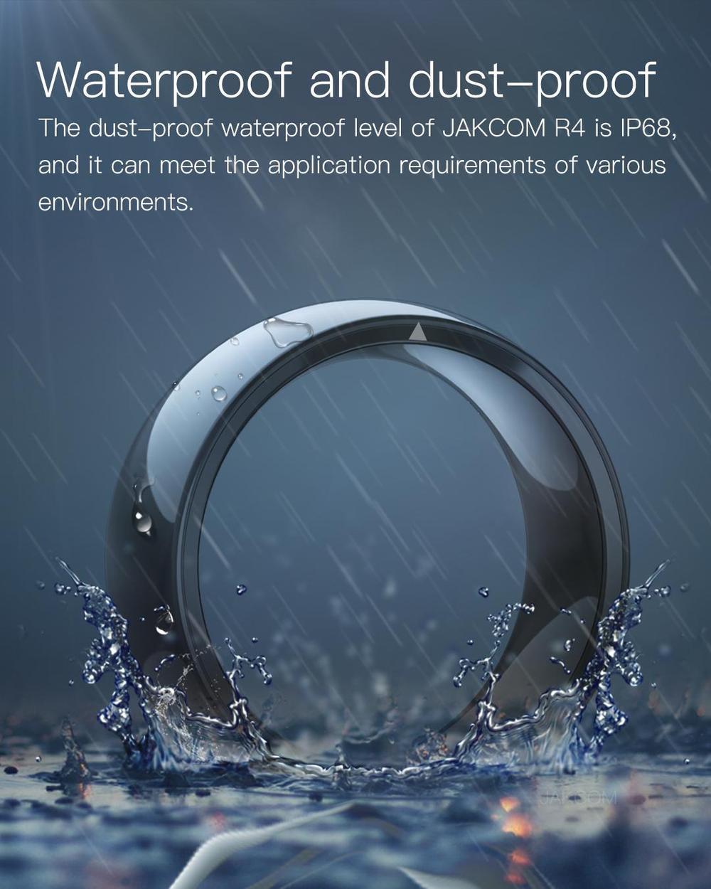 Jakcom r4 relógio inteligente anel para homens