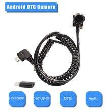Hd1080p android otg камера 20mp 120 ° широкоугольный мини мобильный