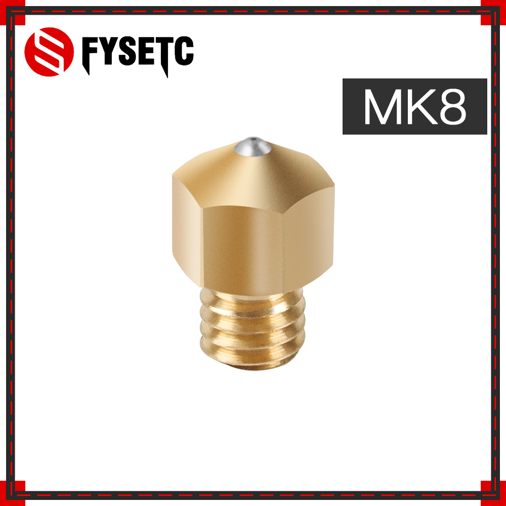 MK8 buse saphir 1.75mm buses 0.4mm laiton haute température pour PETG ABS PET PEEK NYLON PRUSA I3 ENDER-3 CR10 MK8 Hotend