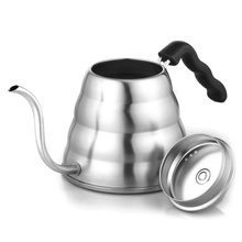 Stainless Steel Coffee Drip Gooseneck Kettle Pot Teapot Kettle Tea Maker Coffee Grinder Bottle Kitchen 1L/1.2L#25