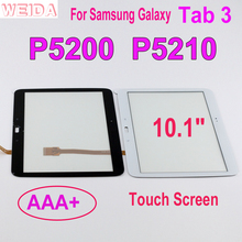 Weida 10.1 For Samsung Galaxy Tab 3 GT-P5200 GT-P5210 P5200 P5210 Touch Screen Digitizer Panel Sensor Replacement rlgvqdx new touch screen for samsung galaxy tab 3 10 1 gt p5200 p5210 p5220 glass replacement black by free shipping