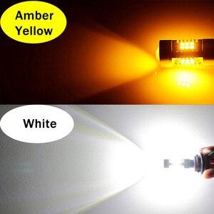 VANSSI 2 шт. H8 H11 H16 светодиодная противотуманная фара HB4 9006 HB3 9005 H10 9145 5202 Светодиодная противотуманная фара DRL 1300LM 12В-24В белый/Янтарный Желтый