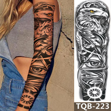 1Sheet Extra Large Temporary Tattoos Full Arm and Eagle ArmTattoo Sleeves for Men Women