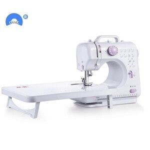 Image 2 - Новая многофункциональная швейная мини машина с двумя скоростями и двойной нитью для начинающих