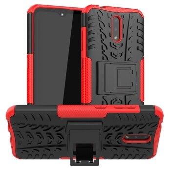 Перейти на Алиэкспресс и купить Противоударный чехол-подставка для Nokia 8 6 2018 5 3 2 1 6,1 7,1 8,1 2,1 3,1 5,1 Plus Nokia 2,2 2,3 3,2 4,2 7,2 X5 X6 X7