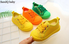 Boys Canvas Shoes Sneakers Girls Tennis Lace-up Kids Footwear Toddler Bright Yellow Chaussure Zapato Casual SandQ Baby New