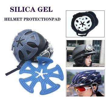 Almohadilla Buena silicona para casco, almohadilla térmica de aislamiento, almohadilla transpirable para casco, adecuada para la mayoría de los cascos de motocicleta y bicicleta