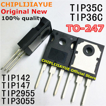 5PCS TIP35C TIP36C TIP142 TIP147 TIP2955 TIP3055 TO-247 TO247 New and Original IC Chipset - discount item  10% OFF Active Components