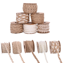 5 m/rollo de cuerda de cáñamo Natural de arpillera tejida a mano, cuerda de yute, cuerda de regalo, cuerdas para embalar, hilo de tejer DIY, adornos fiestas en casa