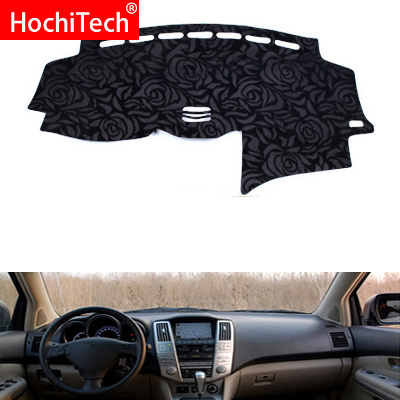 Rose Pattern Non-slip Dashmat Dash <font><b>Mat</b></font> Dashboard Cover Pad Cover Carpet Sticker for <font><b>lexus</b></font> RX300 RX350 <font><b>RX400</b></font> 04-07 <font><b>Car</b></font> Styling image