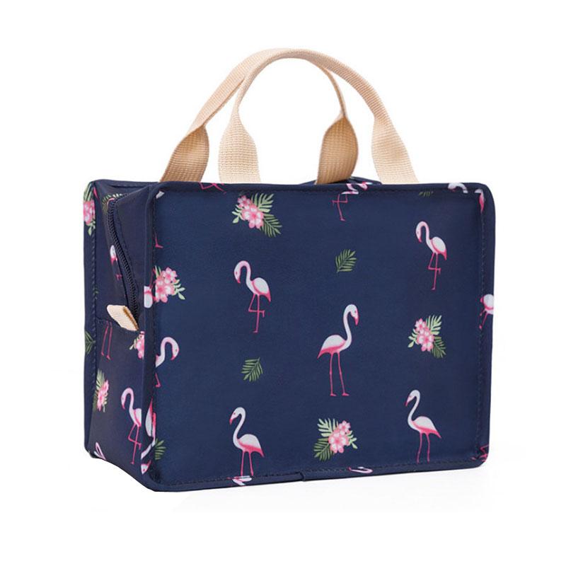 Cooler Bag Portable Food Bag Aluminum Foil Thermal Box Zipper Ice Pack Cute Animal Prints Lunchbox