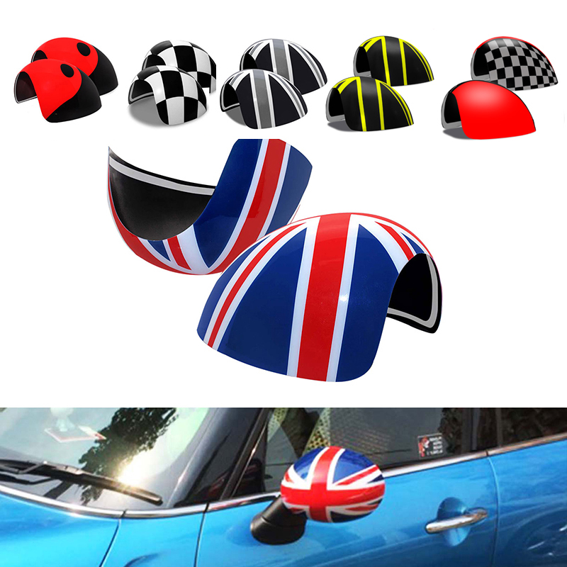 KJAUTOMAX For Mini Cooper R50 R52 R53 Rearview Side Wing Mirror Cover Caps Right Steering Car Styling Accessories