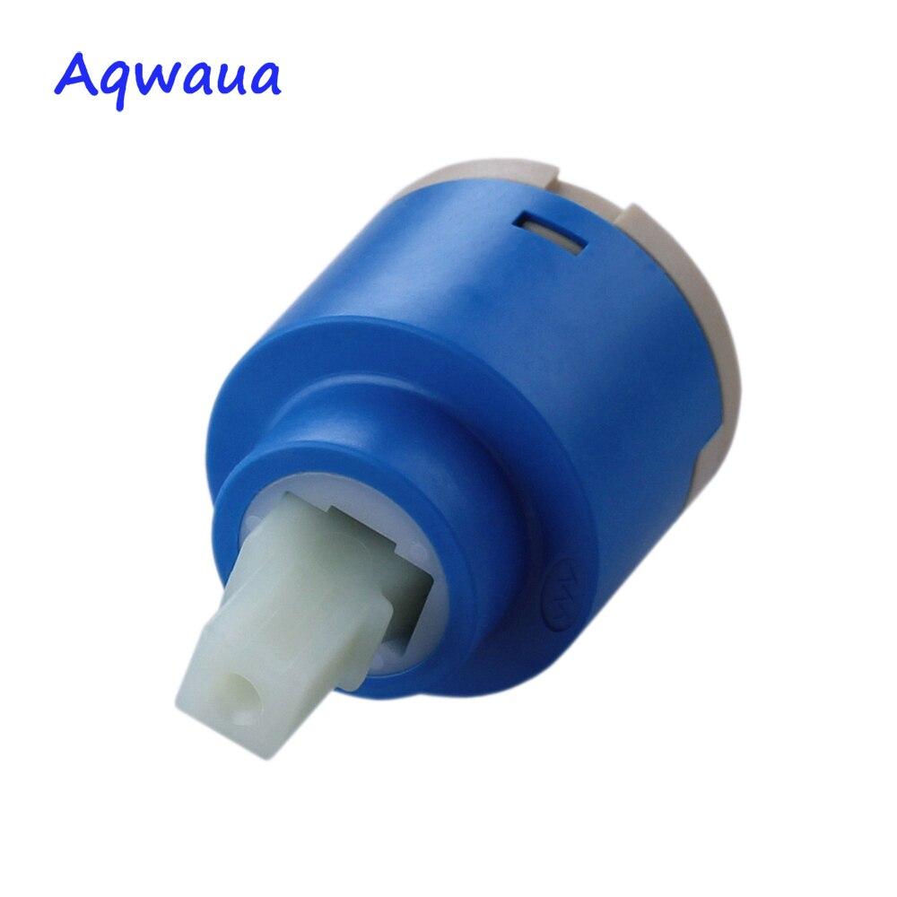 Ceramic Valve core Distributor with Filter Faucet Cartridge Replacement Part Aqwaua Faucet Valve Core 40mm Standard Ceramic Cartridge Without