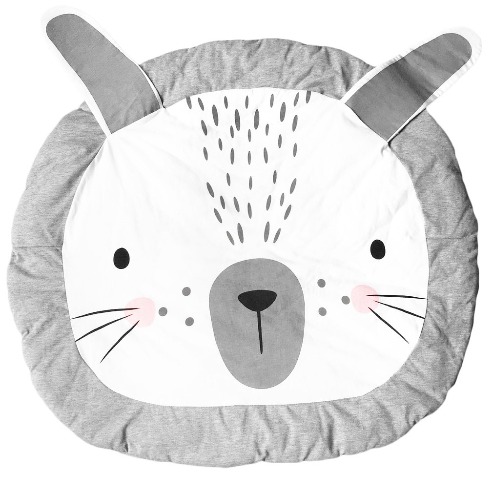 OCDAY Baby Play Mats Crawl Rug Cute Rabbit Shape Playing Crawling Mat Cotton Bedroom Decorate Toys Mat Newborn Carpets Baby Toys
