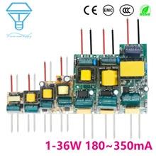 Светодиодный драйвер 300мА 1-3 Вт 3-5 Вт 4-7 Вт 8-12 Вт 12-18 Вт 18-25 Вт 25-36 Вт светодиодный блок питания 350мА AC90-265V трансформаторы для светодиодный s