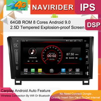 Car Multimedia Player IPS Screen Monitor GPS tape recorder Bluetooth Android 9.0 For Toyota Tundra Sequoia 2008 2013 Auto Audio