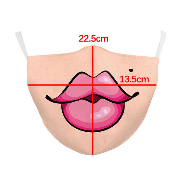 Reusable Cotton Dust Protection Mask Cartoon Face Masks Men Women Boy Girls Kids Funny Expression Mouth Muffle Cover 7.16 2