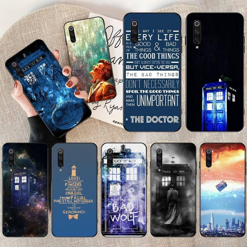 HPCHCJHM Hot Tardis Doctor Dr Who Police Box Custom Photo Soft Phone Case for Xiaomi Mi9 9SE 8SE Pocophone F1 Mi8 Lite